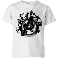 Avengers Endgame Hero Circle Kids' T-Shirt - White - 5-6 Years - White