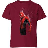 Marvel Spider-man Web Wrap Kids T-Shirt - Burgundy - 3-4 Years - Burgundy