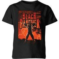 Marvel Universe Wakanda Lightning Kids' T-Shirt - Black - 7-8 Years - Black