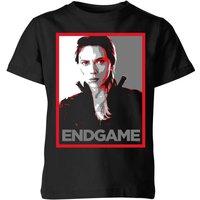 Avengers Endgame Black Widow Poster Kids' T-Shirt - Black - 11-12 Years - Black