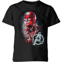 Avengers Endgame Captain America Brushed Kids' T-Shirt - Black - 9-10 Years - Black