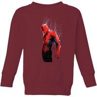 Marvel Spider-man Web Wrap Kids Sweatshirt - Burgundy - 11-12 Years - Burgundy
