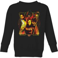 Avengers Endgame Distressed Sunburst Kids' Sweatshirt - Black - 9-10 Years - Black