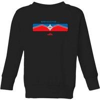 Captain Marvel Sending Kids' Sweatshirt - Black - 11-12 Years - Black - Marvel Gifts