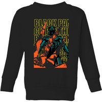 Marvel Avengers Black Panther Collage Kids' Sweatshirt - Black - 11-12 Years - Black - Marvel Gifts