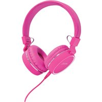 AV: Link Multimedia Headphones with Inline Microphone - Pink/White - Music Gifts