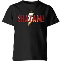 Shazam Logo Kids' T-Shirt - Black - 7-8 Years - Black