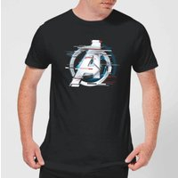 Avengers: Endgame White Logo Men's T-Shirt - Black - 5XL