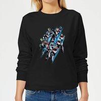 Avengers: Endgame Logo Team Women's Sweatshirt - Black - S - Black
