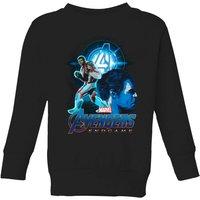 Avengers: Endgame Hulk Suit Kids Sweatshirt - Black - 9-10 Years - Black