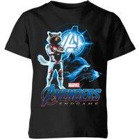 Avengers: Endgame Rocket Suit Kids T-Shirt - Black - 7-8 Years - Black