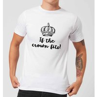 If The Crown Fits Men's T-Shirt - White - S - White