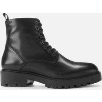 Vagabond Womens Kenova Leather Lace-Up Boots - Black - UK 7 - Black