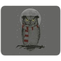 'Owl And Moon Mouse Mat