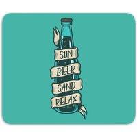 Sun Beer Sand Relax Mouse Mat