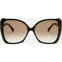 Gucci Women's Butterfly Acetate Sunglasses - Black/Brown