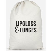 Lipgloss And Lunges Cotton Storage Bag - Large