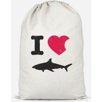 I Love Sharks Cotton Storage Bag - Small