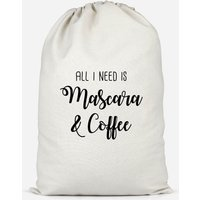 All I Need Is Mascara And Coffee Cotton Storage Bag - Large - Makeup Gifts