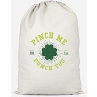 'Pinch Me And I'll Punch You Cotton Storage Bag - Small