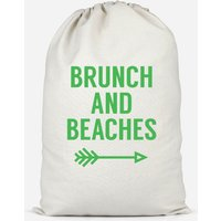 Brunch And Beaches Cotton Storage Bag - Large