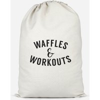 Waffles And Workouts Cotton Storage Bag - Large