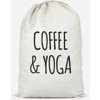 Coffee And Yoga Cotton Storage Bag - Large