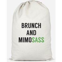 Brunch And Mimosass Cotton Storage Bag - Large