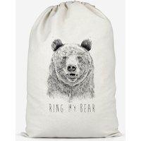 Ring My Bear Cotton Storage Bag - Large