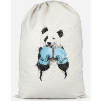 Boxing Panda Cotton Storage Bag - Small