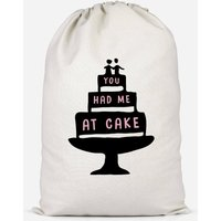 You Had Me At Cake Cotton Storage Bag - Small