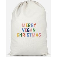 Merry Vegan Christmas Cotton Storage Bag - Large