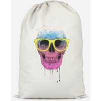 Skull And Glasses Cotton Storage Bag - Small
