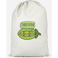 I Need To Pea Cotton Storage Bag - Small