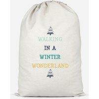 Walking In A Winter Wonderland Cotton Storage Bag - Large - Walking Gifts