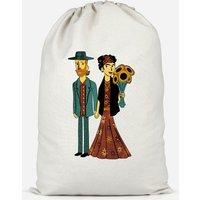 Love Is Art - Frida Kahlo And Van Gogh Cotton Storage Bag - Small