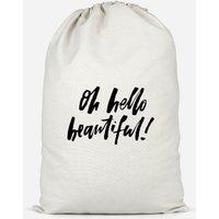 Oh Hello Beautiful Cotton Storage Bag - Small