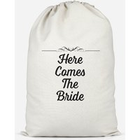Image of Here Comes The Bride Cotton Storage Bag - Large