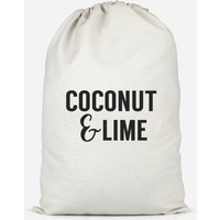 Coconut And Lime Cotton Storage Bag - Large