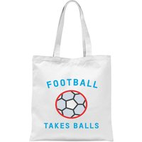 Football Takes Balls Tote Bag - White - Football Gifts