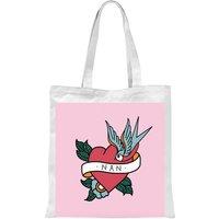 International Women's Day Nan Heart Tote Bag - White - Nan Gifts