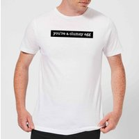 Youre A Clumsy Egg Mens T-Shirt - White - L - White