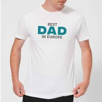 Best Dad In Europe Mens T-Shirt - White - S - White