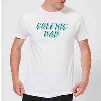 Golfing Dad Mens T-Shirt - White - S - White