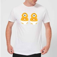 Monster Twins Mens T-Shirt - White - XXL - White