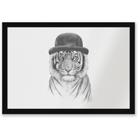 Tiger In A Hat Entrance Mat
