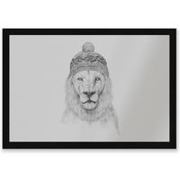 Lion With Hat Entrance Mat