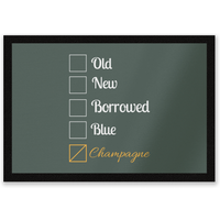 Champagne Tick Box Entrance Mat - Champagne Gifts
