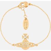 Vivienne Westwood Women's Minnie Bas Relief Bracelet - Gold Crystal