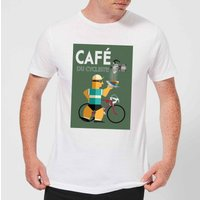 Mark Fairhurst Cafe Du Cycliste Men's T-Shirt - White - S - White